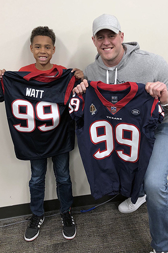 info for 70319 f7483 Texans star JJ Watt visits Moore ES to bring student ...